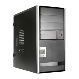 In-Win EA013.T350SL ATX Mid-Tower Blk/Slvr 350W 3/2/(2) USB AUD