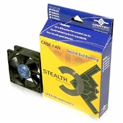VANTEC MFG#SF8025L STEALTH 80MM CASE FAN W/ 2 BALL BEARING FAN