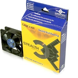 VANTEC CASE FAN MODEL#SF12025L STEALTH 120X120X25MM 2 BALL BEAR.