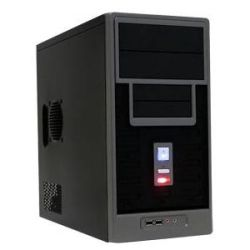 APEX TM-366-BK MATX TOWER BLK 300W 2 2 (1) BAYS USB AUD FAN