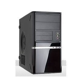 In-Win Case Z638T.CQ350TBL mATX Mini Tower Black/Silver 350W USB