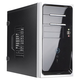 In-Win EM020.T350SL mATX Mini-Tower BK/SL 350W 2/2/(2) USB Aud
